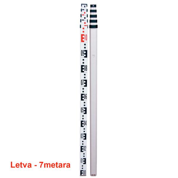 Teleskopska letva za nivelir 7m
